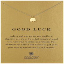Hot Sale Sparkling Good Luck Elephant Necklaces Silver Short Necklace Clavicle Statement Necklaces ( With Card ) Free shipping