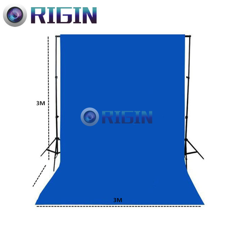 Blue Color 3m*3m Portrait background non-woven cloth photo background cloth photography background cloth<br>