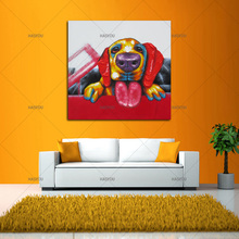 Wall Art For Large Fashion Painting Canvas animal Picture Abstract dog HandPainted  funny dog Oil Painting for home decoration