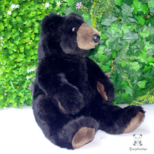 Plush Stuffed Black Bears Doll Toys Simulation Animals Kids Toys Dolls Birthday Gifts(China)