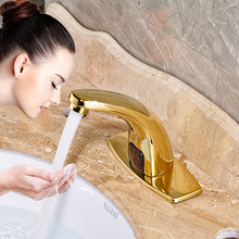 Free Shipping Bathroom Sensor Faucet Hand Touchless Automatic Tap Hot and Cold Mixer Bathroom Sink Infrared Mixer Faucet(China)