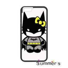 Kid Hello Kitty Batman cellphone case cover for iphone 4s 5s 5c 6s plus Samsung Galaxy S3/4/5/6/7 edge+ Note2/3/4/5