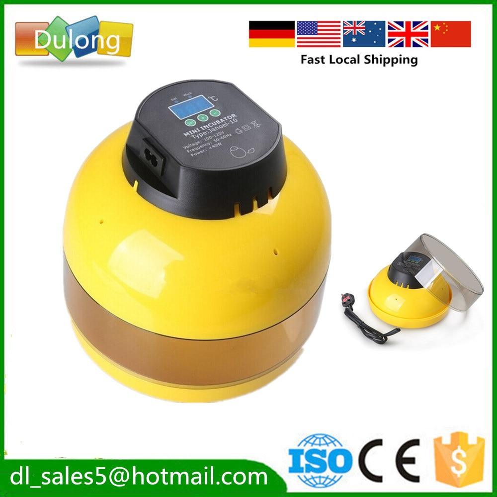 Home Automatic Egg Incubator  10 Eggs Chicken Incubator Brooder Eggs Incubators  Fast ship to EU<br>