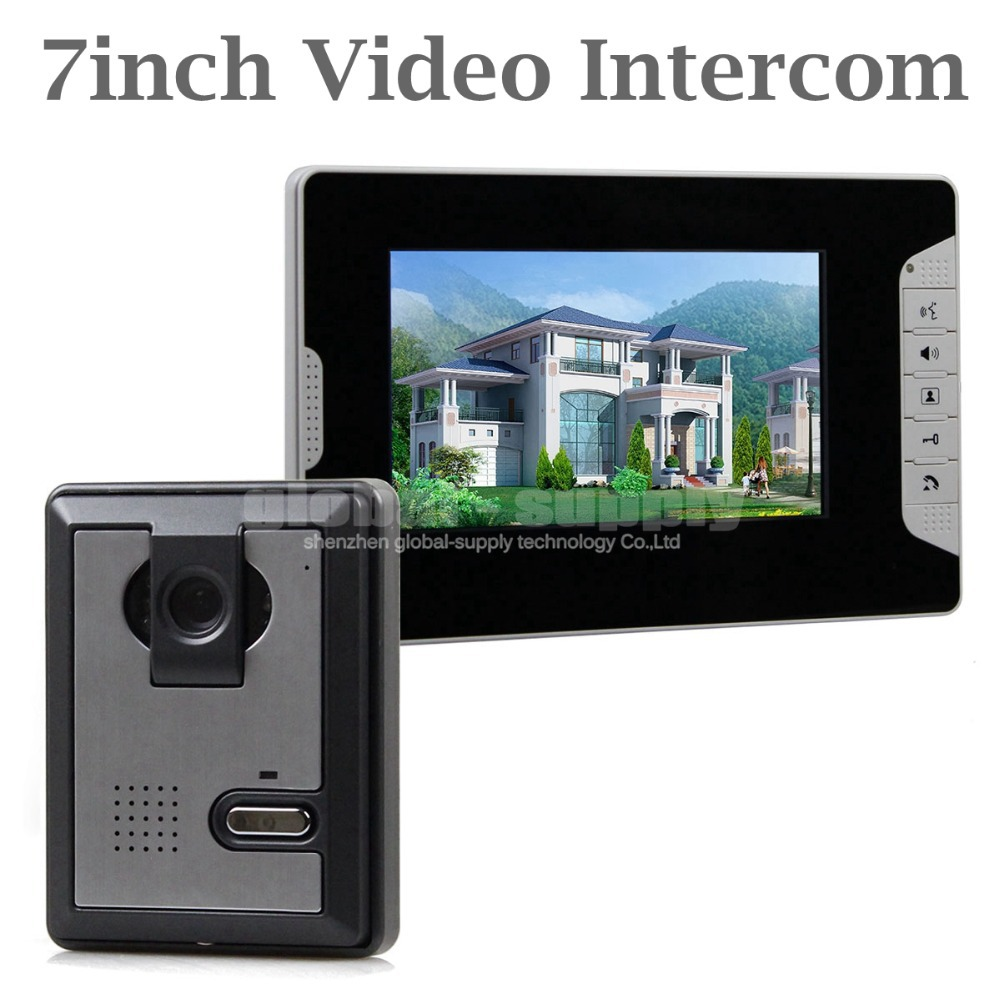 DIYSECUR 7 inch Wired Color Video Door Phone Intercom Home Security System for Villa, Office, Private House<br><br>Aliexpress