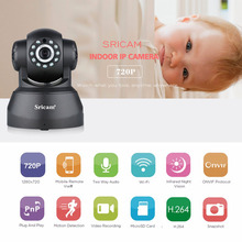Buy Sricam SP012 720P Wireless IP Camera Home Security Camera Wifi Pan/Tilt Surveillance P2P Baby Monitor Black Color for $29.99 in AliExpress store