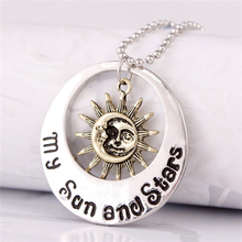Sun Moon and Star Life Origin Ice and Fire Song Fashion Personality Charm Alloy Necklace Retail & Wholesale