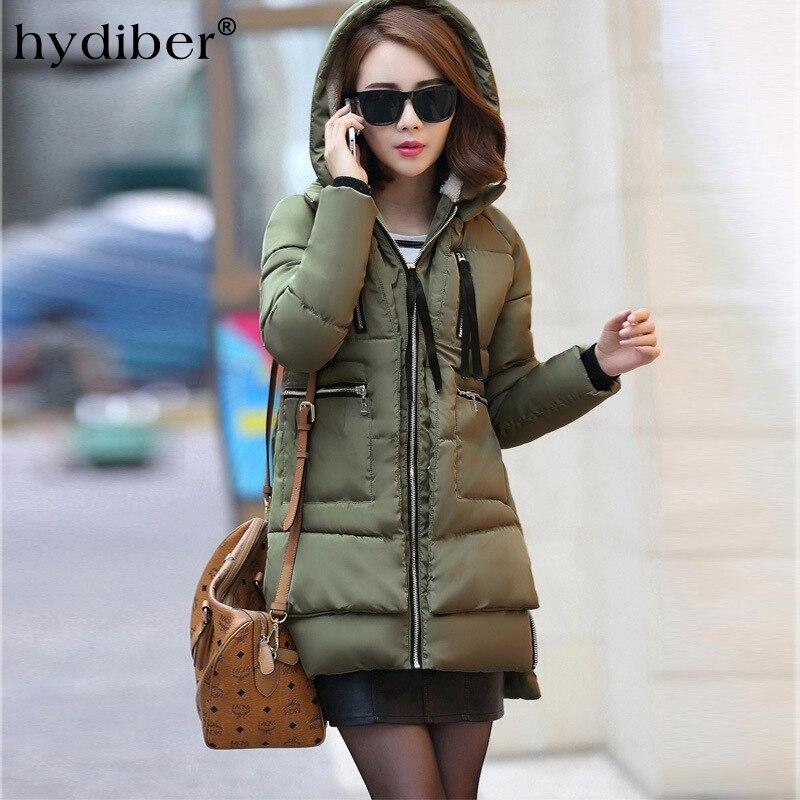 2017 winter women Wadded jacket female medium-long plus size 5XL lady thickening tooling casual wadded coat Hooded parkasÎäåæäà è àêñåññóàðû<br><br>