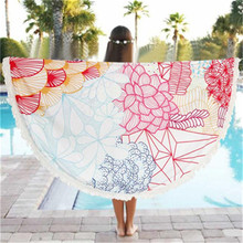 KXAAXS Round Beach Pool Home Shower Towel Blanket Table Cloth Yoga Mat