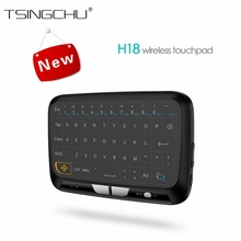 [in Stock]Multifunction 2.4GHz H18 Keyboard Wireless Remote Control Full Touchpad For Windows PC/Android TV Box/Google/Pad PK i8(China)
