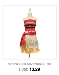 Girls Grass Moana Costume