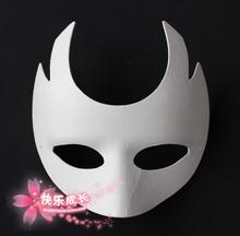 Plain White Environmental Paper Pulp Half Mask For Women Masquerade , DIY Hand painting Fine Art Programs 10pcs/lot Free shippin(China)