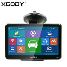 XGODY 5 inch Car GPS Navigation 128MB+8GB SAT NAV Truck Navigator North/South America Europe Free Maps 2017 Russia Navitel Map(China)