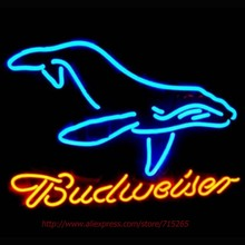 2017 Hot Neon Sign Budweiser Commercial Whale Neon Beer Signs Advertising neon Bulb Budweiser STORE DISPLAY BEER SIGN Neon 20x24(China)