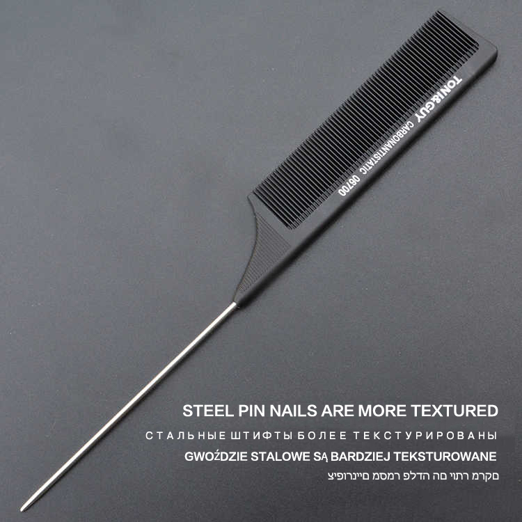 Stainless steel pointed tail comb (2)