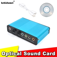New External 2.0 Sound Card Professional 6 Channel Audio Card Adapter SPDIF Controller for PC Laptop Desktop Tablet