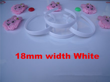 Wholesale 50pcs/lot DIY 18mm plastic plain headband white black DIY Craft tools Jewelry Hair Accessories DIY870(China)