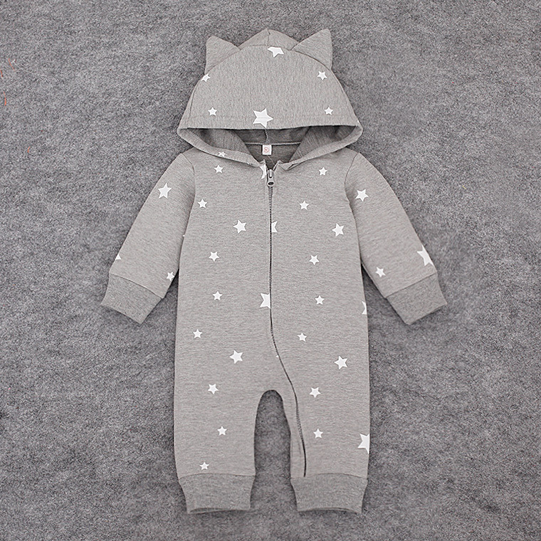 Baby Rompers  Fashion Brand Ropa  Long Sleeve Hooded Cotton Baby Costume cut Animal Spring Autumn Romper Newborn Baby Clothes<br><br>Aliexpress
