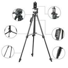 YUNTENG 5208 Aluminum Tripod with 3-Way Head & Bluetooth Remote + clip for Camera Phone(China)