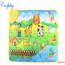 Coolplay CP1313NC 69x50cm Music Animal Voice Singing Piano Farm baby play gym mat, baby game carpet, baby Travel Gym Play