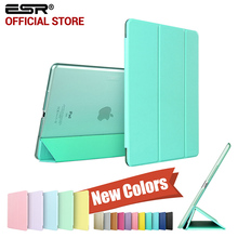 Case for iPad Air 2, ESR Yippee Color PU+Transparent PC Back Ultra Slim Light Weight Scratch-Resistant Case for iPad Air 2 6 Gen(China)
