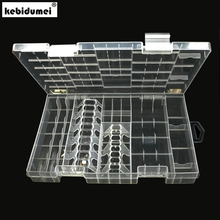 kebidumei 1pcs Useful Rack Transparent AAA/AA/C/D/9V Hard Plastic Battery Case Holder Storage Box Battery Container(China)