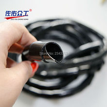 20mm wire hose protection spiral hose pipes Spiral wrapping transparent wire winding hose pipes line pipe transparent protection(China)