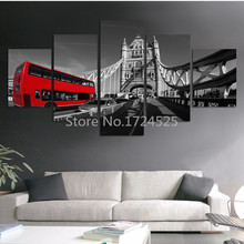 2017 Sale Fashion Train Contemporary Art Canvas Prints Oil Painting On Foreign Street Architecture Modern Paintings Wall Decor(China)