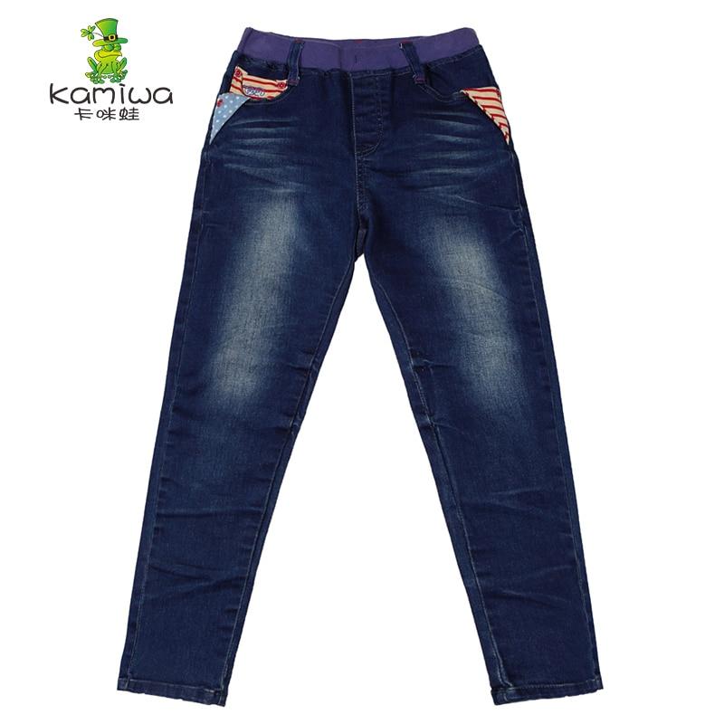KAMIWA 2017Winter Girls Plus Velvet Thicken Warm Jeans Childrens Cowboy Pants Long Trousers Clothing Leggings Kids Clothes<br>