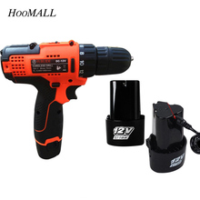 Hoomall 12V Impact Drill 21V Electric Drill Power Tools Lithium Battery Cordless Screwdriver Rechargeable Electric Drill Tools(China)