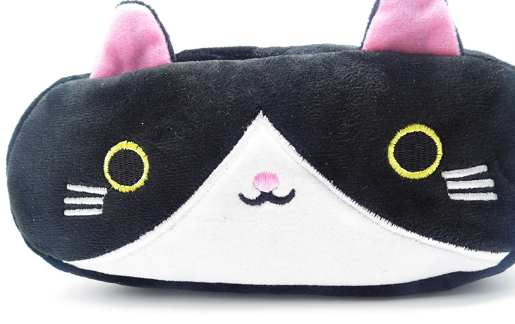 Plush Pencil Case School Supplies For Girls Stationery Office Cute Kawaii Cartoon Cat Pen Bag pouch kits Kids Gift Makeup bag (10)
