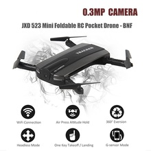 KidoME Selfie Drone JXD 523 Mini Quadcopter JXD523 with WiFi FPV Camera HD Wireless Control Foldable Pocket RC Helicopter vs h37(China)