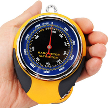 4 in 1 Altimeter Barometer Meter Scale with Compass and Thermometer to Measure Direction, Altitude, Temperature and Air Pressure