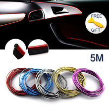 3D Car-Styling Universal DIY Cold Line Flexible Interior Decoration Car Styling Sticker Fit For Lada Opel Kia Accessories 5M/lot