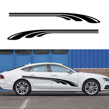 2 X Parallel Arrangement of A Golf Club Streamlined Dynamic Artistic Streak Car Stickers for SUV Camper Van Vinyl Decal 9 Colors