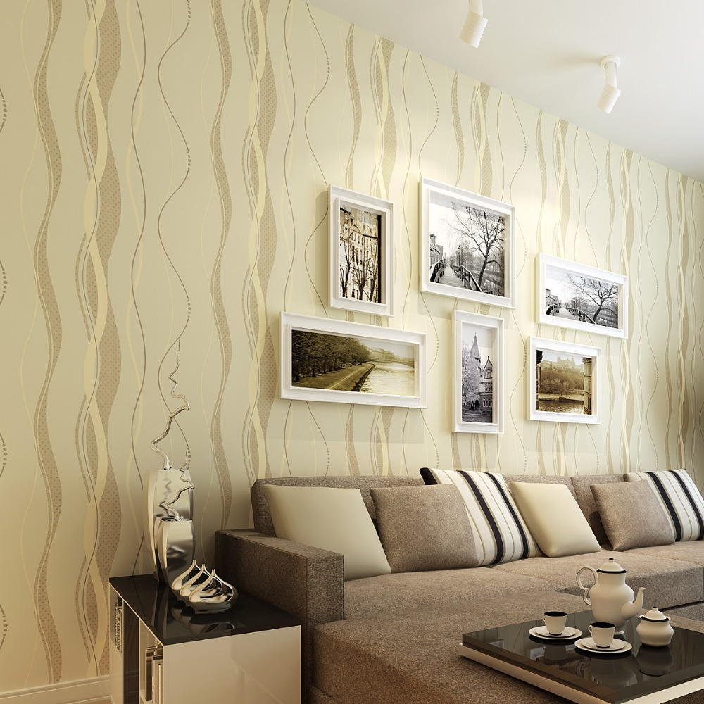 3D Striped wallpapers non woven Grey stripe wall paper for the walls,stripes wallpapers for bedroom Modern Wallpaper 3D Roll<br>