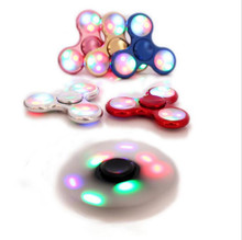 LED flash light Aluminum Metal LED Light Hand Spinner Fidget Finger Gyro Hand Spinner Autism