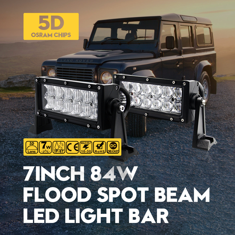 7 84W 5D ForOsram Spot Flood LED Work Light Bar SUV 4WD Truck Offroad Driving Lamp Auto Motercycle Boat External Car Lamps<br><br>Aliexpress