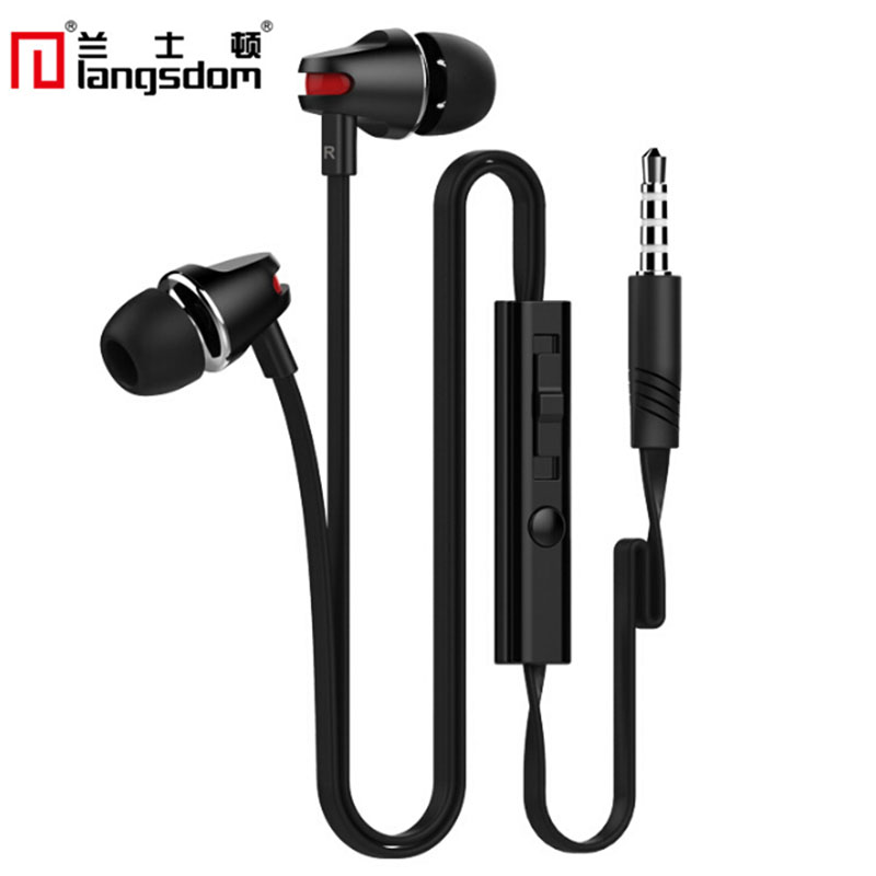Langsdom JV23 3.5MM In-ear Headset Wired Super Bass Earphone With Mic+Volume Control Ear Buds For Smart Phone<br><br>Aliexpress