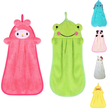 Cute Animal Microfiber Kids Children Cartoon Absorbent Hand Dry Decoration Towel Lovely Towel For Kitchen Bathroom Use