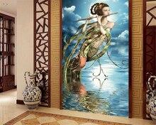 3d custom klassieke flying fairy achtergrond 3d behang foto gang