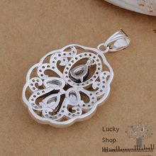 AN780 925 sterling silver Necklace 925 silver fashion jewelry pendant Silver mesh /dypampwa fnzaofga