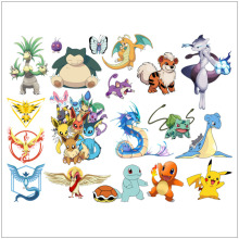 16 Kinds Decals Cartoon Pokemon Wall Stickers for Kids Rooms Home Decorations Pikachu Wall Decal Poster Wall Art Children Poster