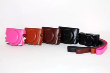 Black/Brown/Coffe/Pink Camera Bag Case Leather Case for Digital Camera Sony RX100 M3 Free Ship(China)