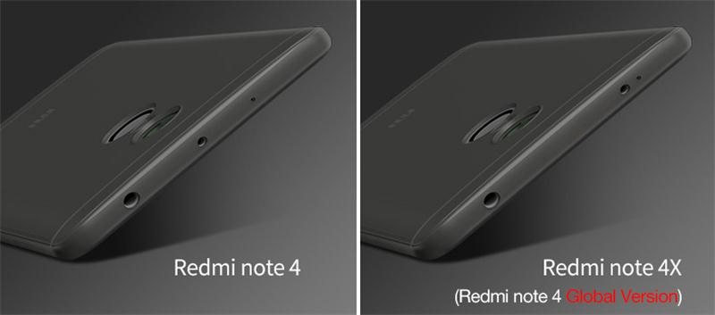 Cover For redmi note 4 4X shell