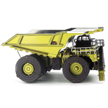 Colorized Mine truck model kit laser cutting 3D puzzle DIY metal car model jigsaw best gifts for kids educational toys(China)