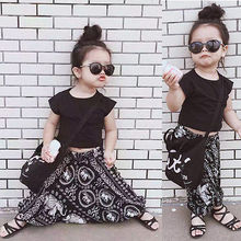 0-5T Newborn Toddler Kids Baby Girls Boys Clothes Fashion T-shirt Tops+ Flower Harem Pants 2PCS Outfit Clothing Set(China)