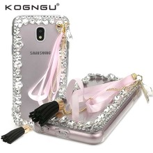 Kogngu 3D Bling Diamond Cases for Samsung Galaxy J5 2017 J530 Cover Soft Tpu for Samsung J5 Pro 2017 Case Cell Phone Covers(China)