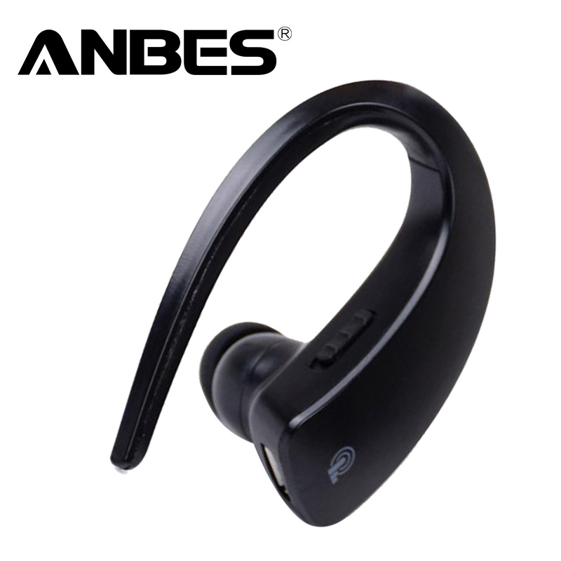 ANBES Bluetooth 4.1 Earphone Stereo Music Headphones Business Voice Control Wireless Handsfree Headset for iPhone Samsung<br>