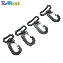 Plastic Swivel Snap Hook for Keychain Backpack Buckle Belt Strap Black