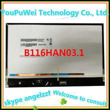 "11.6"" LCD MATRIX B116HAN03.1 For Samsung XE700T1C A01 A02 laptop screen LED WUXGA FHD Display"